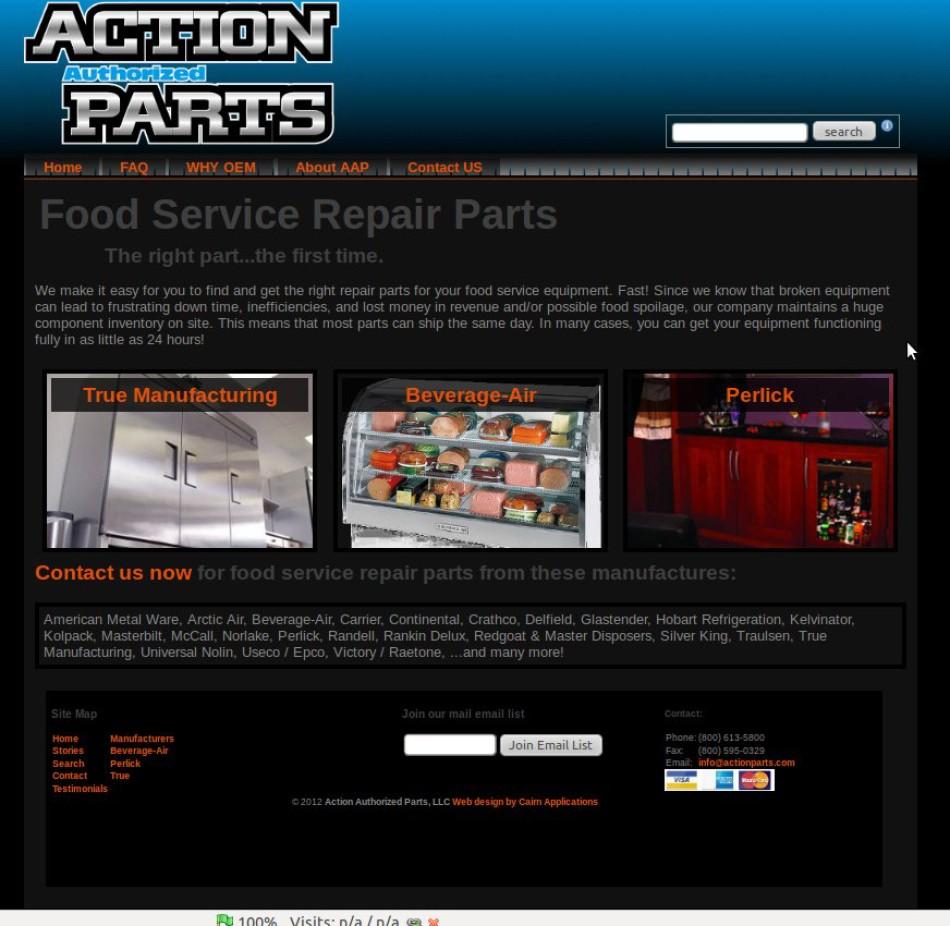 Database driven web site