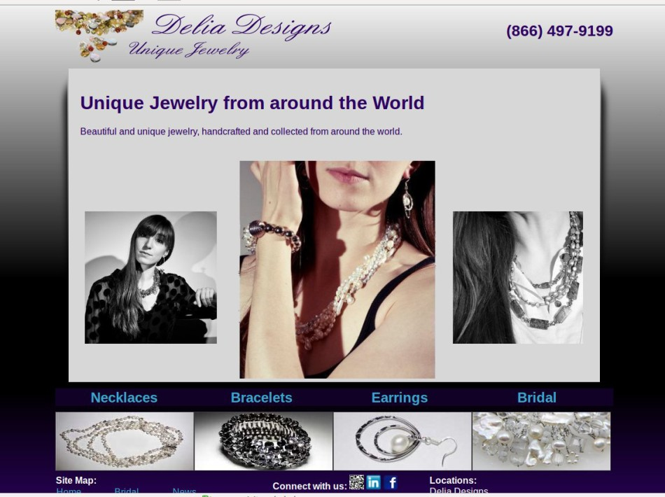 E commerce site for Maine jewelry maker