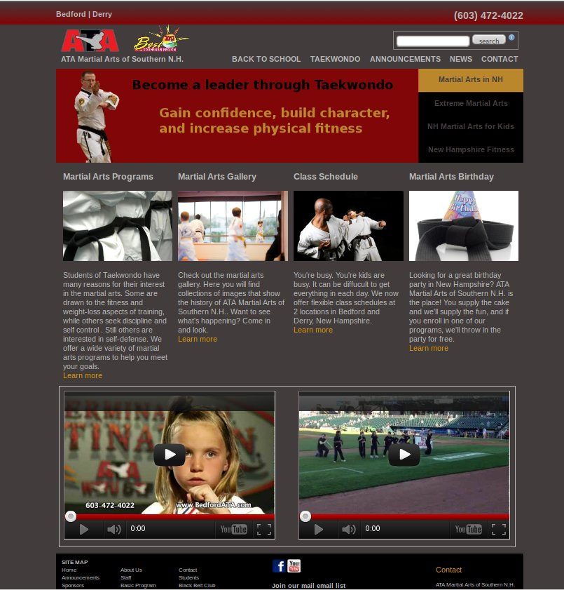 Karate studio web site