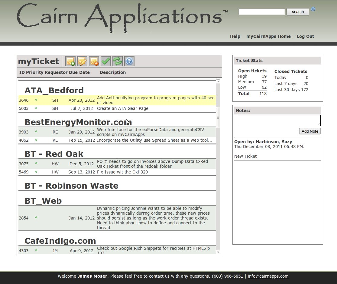 Web Application: myTicket work flow application